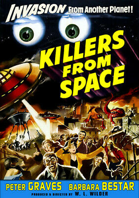 Killers From Space [Restored Edition] (DVD, B&W, 2015) Peter Graves *NEW*
