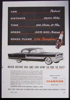 1955 Packard Patrician Champion Spark Plug AD for sale  Diamond Point