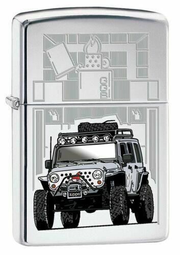 "Zippo 1504,  ""Jeep"" High Polish Chrome Finish Full Size Lighter"