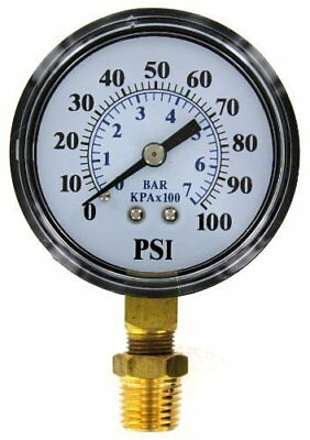 Flotec Pump, 0100 PSI Pressure Gauge for Jet/SubmersibleWell