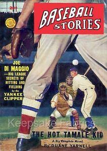 Vintage Baseball Illustration Cotton Fabric Quilt Block
