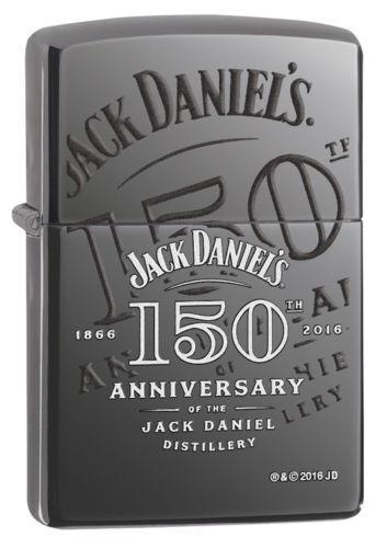 Zippo Windproof Jack Daniels 150th Anniversary Lighter, 29188, New In Box