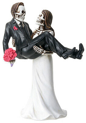 NEW! Day of the Dead Wedding Couple Bride Carrying Groom DOD Statue Figure 8066 - Day Of The Dead Bride