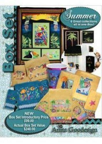 Anita Goodesign Summer Box Set Collection Embroidery Machine Design CD NEW BX022