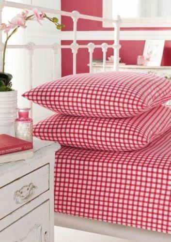 Red Gingham Bedding