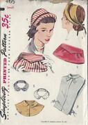 Vintage Hat Sewing Pattern