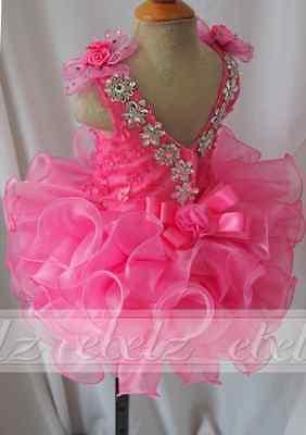 Pink Little Girls Pageant Dress Princess Cupcake Dress For Kid's Party Birthday](Cupcake Communion Dress)