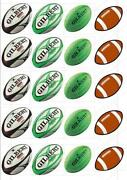 Rugby Ball Cake Toppers