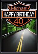 Harley Davidson Birthday Card