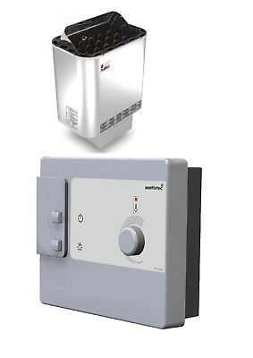 Sauna heater Nordex with control DC9  - 4.5 kw for 220V 1N~ or 380V 3N~