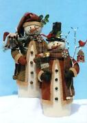 Primitive Snowman Pattern