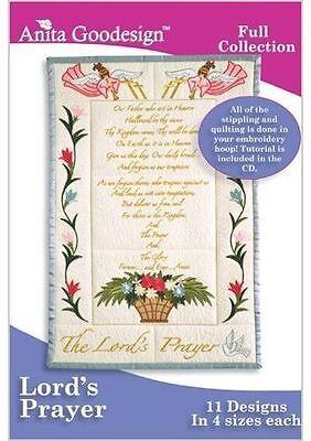 Anita Goodesign Lord's Prayer Embroidery Machine Design CD NEW 152AGHD
