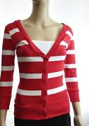 Red Striped Cardigan