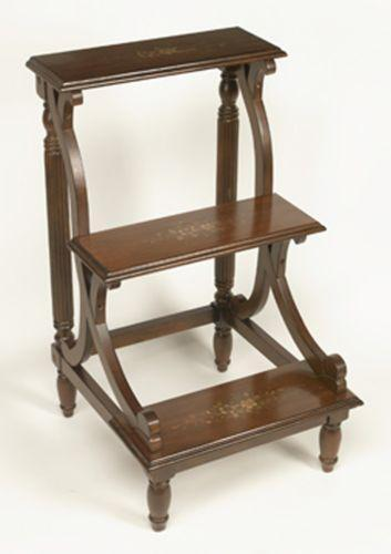 Antique Bed Stool: Library Steps: Home & Garden