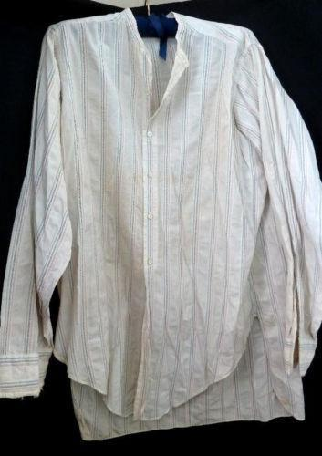 Mens Cream Linen Shirt