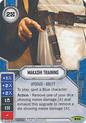 X1 Makashi Training 56 Rare Star Wars Destiny Spirit Of Rebellion M/NM - $1.60