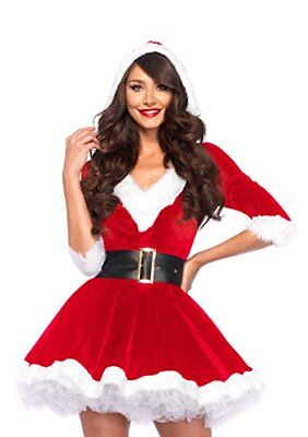 NEW Womens 2 Piece Mrs. Santa Claus Costume Santacon Medium Large - Mrs Santa Claus Costume