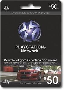 $50 US PLAYSTATION NETWORK CARD PSN for PS3 & PSP FAST