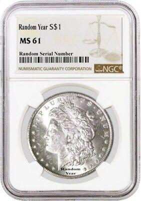 Random Year (1878 - 1904) $1 Morgan Silver Dollar NGC MS61 Uncirculated Coin