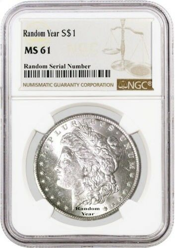 Random Year (1878 - 1904) $1 Morgan Silver Dollar NGC MS61