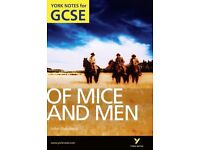 Of Mice and Men- York Notes for GCSE