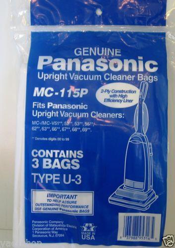 Panasonic Vacuum Cleaner Bags Ebay