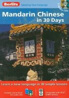 BERLITZ / MANDARIN CHINESE IN 30 days / 1 x /