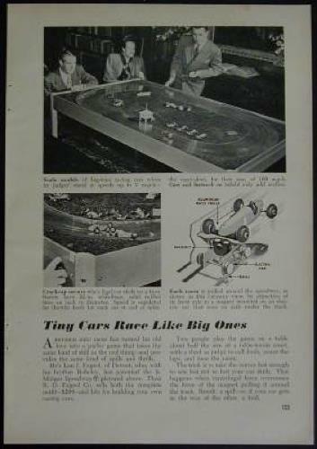 Fageol Jr Midget Speedway 1948 Vintage Slot Car article