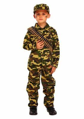 Kinder Soldat Kostüm Fasching Tarnanzug Militär Armee Karneval Uniform Junge