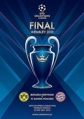 * BAYERN MUNICH v BORUSSIA DORTMUND 2013 UEFA CHAMPIONS LEAGUE FINAL PROGRAMME *