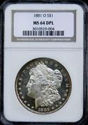 DMPL NGC Morgan Dollars