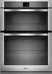 "WHIRLPOOL - 27"" SINGLE ELECTRIC WALL OVEN WITH BUILT-IN MICROWAV"