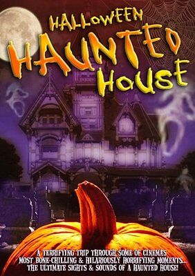 HALLOWEEN HAUNTED HOUSE SIGHTS, SOUNDS, MOVIE CLIPS & MORE VIRTUAL PARTY DVD NEW (Haunted Halloween Sounds)