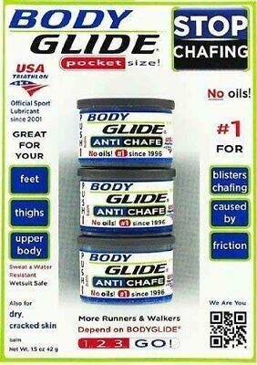 Body Glide Trials 3-Pack eBay Motors