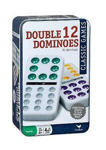 Cardinal Double 12 Color Dot Mexican Train Dominoes in Tin, New - Free Shipping!
