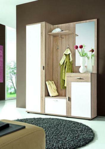 garderobe komplett m bel wohnen ebay. Black Bedroom Furniture Sets. Home Design Ideas