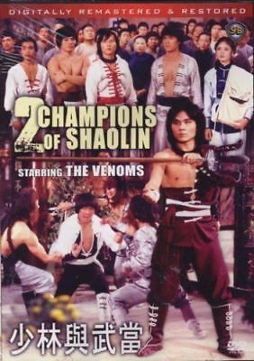 2 champions of shaolin -Hong Kong RARE Kung Fu Martial Arts Action movie - NEW D