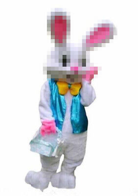 Adult Mascot (Halloween Easter Bunny Rabbit Mascot Costume Suits Dress Adult (Only)