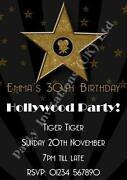 Hollywood Party Invitations