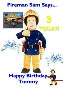 Fireman Sam Birthday Card