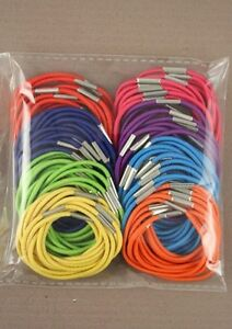 100-Thin-Hair-Elastics-Bands-Pony-Tail-Bobbles-Mixed-Colour-Hair-Accessory