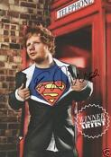 Ed Sheeran Poster Signed