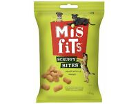 BNIB 9 pks of Misfits Scruffy Bites Dog Training Treats