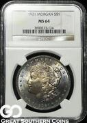 1921 Morgan Silver Dollar MS64