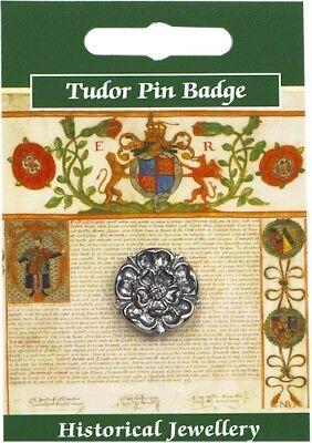 House of Lancaster Lancashire Rose Pin Badge Made in Polished English Pewter
