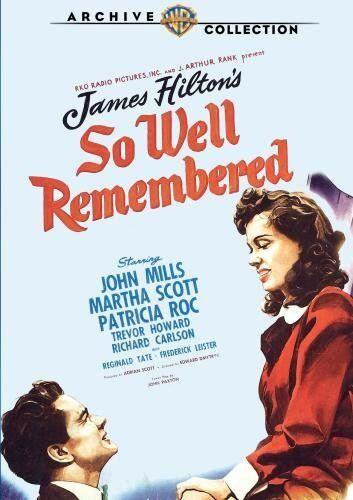 SO WELL REMEMBERED (1947 John Mills) Region Free DVD - Sealed