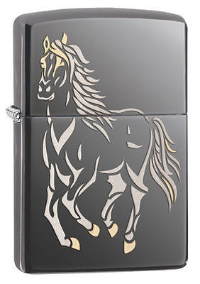 Zippo Lighter Laser (Zippo Windproof  Lighter With Laser Engraved Running Horse, 28645, New In)
