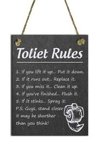 Toilet Sign Home Decor Ebay