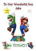 Mario Birthday Card