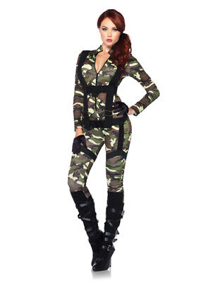 Sexy Paratrooper Womens Army Halloween Costume](Army Halloween Costumes For Women)